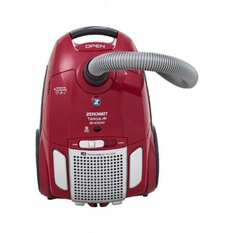 جاروبرقی زیرووات (کیسه ای) KZTE-2400 watt رنگ قرمز